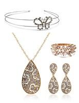 abordables -Mujer Brazaletes Los sistemas nupciales de la joyería Cristal Europeo Moda Boda Fiesta Diamante Sintético Legierung Gota Mariposa Joyería
