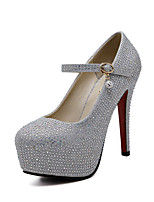 Women's Shoes Sparkling Glitter Leatherette Spring Fall Basic Pump Heels Stiletto Heel Round Toe Sparkling Glitter for Wedding Party &