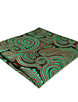 cheap -Men's Silk Cravat & Ascot,Vintage Cute Party Work Casual Paisley All Seasons Green