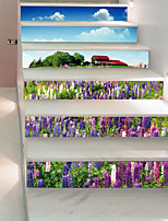 cheap -Romance Floral/Botanical Wall Stickers 3D Wall Stickers Decorative Wall Stickers, Vinyl Home Decoration Wall Decal Wall
