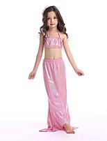cheap -The Little Mermaid Skirt Swimwear Kid Halloween Festival / Holiday Halloween Costumes Pink Green Cyan Mermaid
