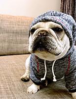 Chien Pulls à capuche Vêtements pour Chien Décontracté / Quotidien Britannique Café Bleu Costume Pour les animaux domestiques
