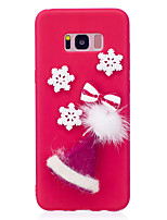 cheap -Case For Samsung Galaxy S8 Plus S8 Pattern DIY Back Cover Christmas Soft TPU for S8 Plus S8 S7