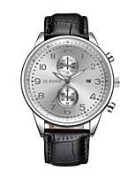 Недорогие -Муж. Модные часы Наручные часы Китайский Кварцевый Календарь Кожа Группа На каждый день Черный