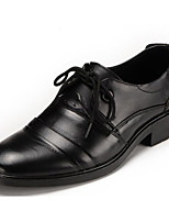 cheap -Men's Shoes Cowhide Winter Fall Comfort Oxfords for Casual Black