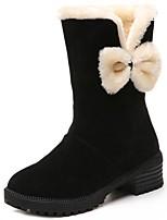 economico -Da donna Scarpe PU sintetico Inverno Stivali da neve Stivaletti Heel di blocco Punta tonda Stivali metà polpaccio per Casual Nero Rosso