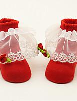 cheap -Girls' Socks & Stockings,All Seasons Cotton Red Blushing Pink