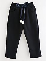 preiswerte -Mädchen Hose Solide Baumwolle Herbst Einfach Rosa Marineblau Grau