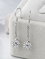cheap -Women's Drop Earrings Cubic Zirconia Imitation Pearl Asian Classic Sweet Silver Plated Irregular Jewelry Wedding Party