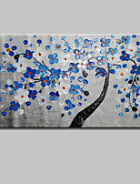 cheap -Hand-Painted Floral/Botanical Horizontal,Simple Canvas Oil Painting Home Decoration One Panel
