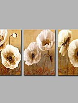 cheap -Hand-Painted Abstract Horizontal Panoramic,Rustic Canvas Oil Painting Home Decoration Three Panels
