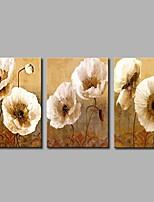 economico -Dipinta a mano Astratto Rustico Tela Hang-Dipinto ad olio Decorazioni per la casa Tre Pannelli