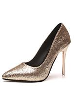 Для женщин Обувь Полиуретан Лето Удобная обувь Светодиодные подошвы Обувь на каблуках На каблуке-рюмочке Заостренный носок Молнии для