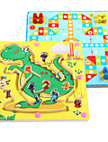 cheap -Wooden Puzzles Magnetic Maze Maze Toys Flat Shape Dinosaur Animal Stress and Anxiety Relief Decompression Toys Classic Wooden Kids Adults'