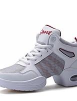 """economico -Da donna Sneakers da danza moderna PU sintetico Tessuto Sneaker All'aperto Basso Bianco Nero 2 """"- 2 3/4"""""""