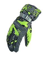 cheap -Winter Gloves Ski Gloves Unisex Full-finger Gloves Keep Warm Windproof Skidproof Durable Poly&Cotton Blend PU Camping / Hiking Cycling