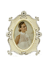 "cheap -4x4"" Retro European Classical Alloy Photo Frame Wedding Gift Crystal Metal Picture Frame"
