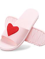 Недорогие -Для женщин Обувь ПВХ Весна Лето Удобная обувь Тапочки и Шлепанцы Плоские Круглый носок для Повседневные Лиловый Синий Розовый