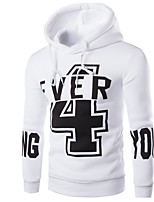 cheap -Men's Plus Size Sports Hoodie Print Hooded Micro-elastic Cotton Long Sleeve Winter Spring/Fall
