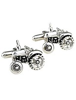 cheap -Geometric Silver Cufflinks Copper Metallic Gift Work Men's Costume Jewelry