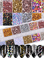 cheap -1set Glam Nail Glitter Bling Bling Sequins Nail Glitter Glitter Powder As Picture Nail Art Design Nail Art Tips