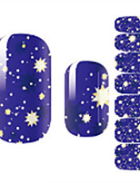 Недорогие -1 Наклейки для ногтей Наклейка для ногтей Разноцветный Украшение для дизайна ногтей