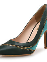 cheap -Women's Shoes Real Leather Synthetic Microfiber PU Spring Fall Comfort Heels Stiletto Heel Pointed Toe for Party & Evening Dress Green