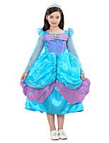 abordables -Princesas Cuento de Hadas Una Sola Pieza Vestidos Niño Halloween Festival / Celebración Disfraces de Halloween Cian Sirena