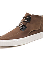 cheap -Men's Shoes Pigskin Spring Fall Comfort Sneakers for Casual Outdoor Brown Gray Black