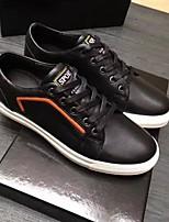 Недорогие -Для мужчин обувь Кожа Весна Осень Удобная обувь Кеды для Повседневные Черный Коричневый