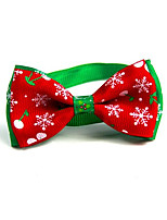 cheap -Cat Dog Collar Tie/Bow Tie Portable Foldable Adjustable Flexible Color Block Lolita Fabric Red