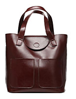 cheap -Women Bags PU Tote Zipper for Casual All Season Brown Coffee Black