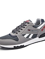 cheap -Men's Shoes PU Spring Fall Comfort Sneakers Running Shoes for Athletic Casual Dark Brown Blue Gray Black