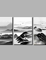 cheap -Stretched Canvas Print Rustic,Three Panels Canvas Horizontal Panoramic Print Wall Decor Home Decoration