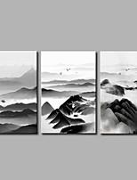 Недорогие -Отпечатки на холсте Деревня,3 панели Холст С картинкой Декор стены Украшение дома