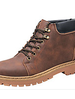 cheap -Men's Shoes PU Spring Fall Comfort Combat Boots Boots Booties/Ankle Boots for Casual Black Gray Brown Camel