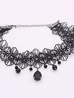 cheap -Women's Simple Fashion Choker Necklace , Zircon Lace Alloy Choker Necklace , Simple Fashion Daily
