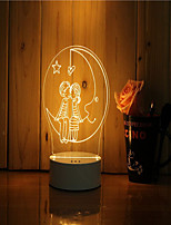 cheap -1 Set Of 3D Mood Night Light Hand Feeling Dimmable USB Powered Gift Lamp Under The Moonlight