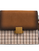 cheap -Women Bags PU Suede Crossbody Bag Buttons Zipper for Outdoor Office & Career All Season Gray Coffee Brown