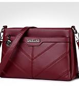 cheap -Women Bags PU Shoulder Bag Zipper for Casual Office & Career All Season Purple Gray Red Black Blue