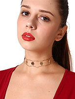 cheap -Women's Circle Vintage Dresswear Choker Necklace , Copper Choker Necklace , Party Daily