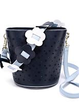 cheap -Women Bags PU Shoulder Bag Flower(s) Zipper for Casual All Season Dark Blue