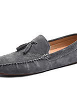 cheap -Men's Shoes Suede Winter Fall Moccasin Comfort Loafers & Slip-Ons for Casual Party & Evening Khaki Blue Coffee Gray Black