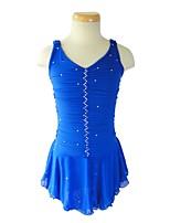 economico -Vestito da pattinaggio artistico Per donna Da ragazza Pattinaggio sul ghiaccio Vestiti Blu Anelastico Prestazioni Esercitazione Vestiti