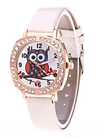 cheap -Women's Casual Watch Wrist watch Simulated Diamond Watch Chinese Quartz N/A PU Band Luxury Cool Black White Blue Red Pink Khaki