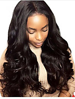 cheap -100% Human Virgin Human Hair Lace Front Wigs Natural Wavy With Baby Hair Glueless Lace Wigs For Black Women