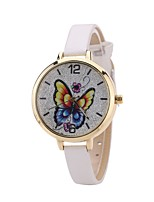 cheap -Women's Fashion Watch Dress Watch Wrist watch Chinese Quartz Casual Watch PU Band Casual Butterfly Black White Blue Red Brown Pink