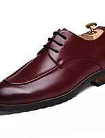 cheap -Men's Shoes PU Spring Fall Comfort Oxfords for Casual Burgundy Brown Black