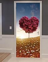 Недорогие -Пейзаж ботанический Наклейки 3D наклейки Декоративные наклейки на стены,Винил Украшение дома Наклейка на стену Стена