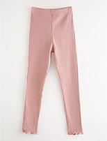 cheap -Girls' Solid Polka Dot Striped Pants,Cotton Spring, Fall, Winter, Summer Blue White Blushing Pink